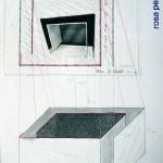 Volker Hildebrandt, Rosa Raum Prospekt 4, 1985, Mischtechnik auf Karton, 65 x 50 cm
