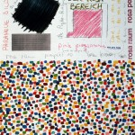 Volker Hildebrandt, Rosa Raum Prospekt 10, 1985, Mischtechnik auf Karton, 65 x 50 cm