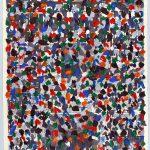 Volke Hildebrandt, ohne Titel, 1994, Acryl auf Zeitung, 57 x 39 cm