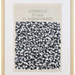 Volker Hildebrandt, Aufbruch, 1997,  Acryl auf Zeitung, 57 x 40 cm