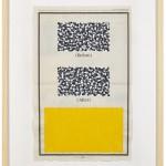 Volker Hildebrandt, Before After, 1996, Acryl auf Zeitung, 57 x 40 cm