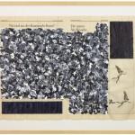 Volker Hildebrandt, Die neuen Nix-Künstler, 1990, Acryl auf Zeitung, 56,5 x 77 cm