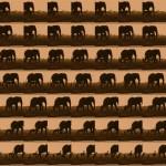 Volker Hildebrandt, Elefantenkitsch, 2006, C-Print, Dibond, 50 x 50 cm