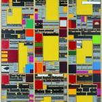 Volker Hildebrandt, M 109, 1993, Acryl auf Zeitung auf Leinwand, 160 x 120 cm