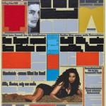 Volker Hildebrandt, M 159, 1995, Acryl auf Zeitung, 55 x 40 cm