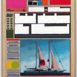Volker Hildebrandt, M 170, 1995, Acryl auf Zeitung auf Leinwand, 47 x 33 cm