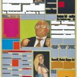 Volker Hildebrandt, M 171, 1995, Acryl auf Zeitung, 55 x 40 cm