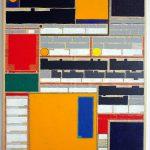 Volker Hildebrandt, M 36, 1991, Acryl auf Zeitung auf Leinwand, 55 x 40 cm