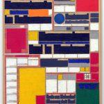 Volker Hildebrandt, M 43, 1991, Acryl auf Zeitung auf Leinwand, 55 x 40 cm
