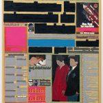Volker Hildebrandt, M 65, 1993, Acryl auf Zeitung auf Leinwand, 55 x 40 cm