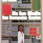 Volker Hildebrandt, M 77, 1993, Acryl auf Zeitung auf Leinwand, 55 x 40 cm