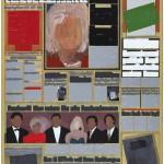 Volker Hildebrandt, M 78, 1993, Acryl auf Zeitung auf Leinwand, 55 x 40 cm