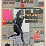 Volker Hildebrandt, M 83, 1993, Acryl auf Zeitung auf Leinwand, 55 x 40 cm