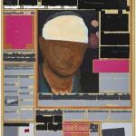 Volker Hildebrandt, M 84, 1993, Acryl auf Zeitung auf Leinwand, 55 x 40 cm