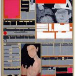 Volker Hildebrandt, M 87, 1993, Acryl auf Zeitung auf Leinwand, 55 x 40 cm