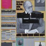 Volker Hildebrandt, M 89, 1993, Acryl auf Zeitung auf Leinwand, 55 x 40 cm