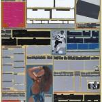 Volker Hildebrandt, M 91, 1993, Acryl auf Zeitung auf Leinwand, 55 x 40 cm