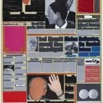 Volker Hildebrandt, M 92, 1993, Acryl auf Zeitung auf Leinwand, 55 x 40 cm