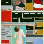 Volker Hildebrandt, M 95, 1993, Acryl auf Zeitung auf Leinwand, 55 x 40 cm