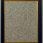 Volker Hildebrandt, Mirror Piece 11, 1996, Acryl auf Spiegel, 74 x 63 cm