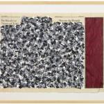 Volker Hildebrandt, Museum des Mangels,  1990, Acryl auf Zeitung, 56,5 x 77 cm, Privatsammlung Niederlande