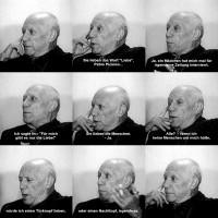 Volker Hildebrandt, Picasso Liebe, 2008, C-Print, Dibond, 60 x 60 cm