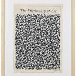 Volker Hildebrandt, The Dictionary, 1996, Acryl auf Zeitung, 57 x 40 cm
