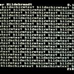 Volker Hildebrandt, Bildstörung Hildebrandt, 1983, BTX (16)