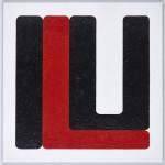 Volker Hildebrandt, ILU black red, 2011, Acryl auf Leinwand, 60 x 60 cm
