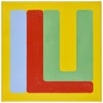 Volker Hildebrandt, ILU blue red, 2011, Acryl auf Leinwand, 60 x 60 cm
