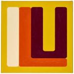Volker Hildebrandt, ILU white orange, 2011, Acryl auf Leinwand, 60 x 60 cm