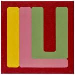 Volker Hildebrandt, ILU yellow pink, 2011, Acryl auf Leinwand, 60 x 60 cm