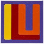 Volker Hildebrandt, ILU yellow red, 2011, Acryl auf Leinwand, 60 x 60 cm