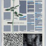 Volker Hildebrandt, Kunstzeitung 43, 2000, Acryl auf Zeitung,  46 x 31 cm