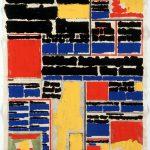 Volker Hildebrandt, M 1, 1990, Acryl auf Zeitung, ca 55 x 40 cm