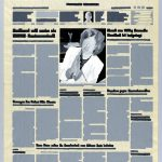 Volker Hildebrandt, M 126, 1994, Acryl auf Zeitung, ca 57 x 35 cm