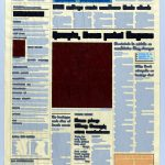 Volker Hildebrandt, M 56, 1992, Acryl auf Zeitung, ca 58 x 35 cm