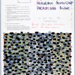 Volker Hildebrandt, Rosa Raum Prospekt 8, 1985, Mischtechnik auf Karton, 65 x 50 cm