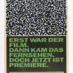 Volke Hildebrandt, Erst war der Film, 1993, Acryl auf Zeitung, 55 x 40 cm
