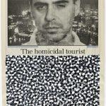 Volke Hildebrandt, The homicidal tourist, 1996, Acryl auf Zeitung, 58 x 37 cm