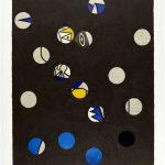 Volker Hildebrandt, Concetto Triviale 10p, Roy Lichtenstein Frau mit Hut, 1992, Acryl auf Poster, 72 x 57 cm