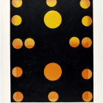 Volker Hildebrandt, Concetto Triviale 14p, Mark Rothko Orange and Yellow, 1992, Acryl auf Poster, 72 x 57 cm