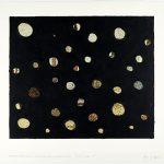 Volker Hildebrandt, Concetto Triviale 5p, Georges Seurat Honfleur Harbor, 1992, Acryl auf Poster, 57 x 72 cm