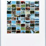 Volker Hildebrandt, DC 7, Helsinki und Mallorca, 1997, Collage auf Karton, 40  x 30 cm