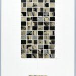 Volker Hildebrandt, Die Eselslast der Zeit, 3.1.1998, Collage auf Karton, 59,5  x 42 cm