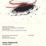 Volker Hildebrandt, Einladung zur Ausstellung PRINZIP SPIRALE, 1983