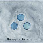 Volker Hildebrandt, Hommage a Baselitz, 1988, Wasserfarbe, 30 x 40 cm