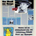 Volker Hildebrandt, Kunstzeitung Beuys, 1997-99,  Acryl auf Zeitung auf Leinwand,  47 x 33 cm
