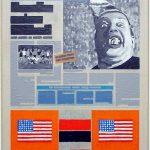 Volker Hildebrandt, Kunstzeitung Blume, 1997-99,  Acryl auf Zeitung auf Leinwand,  47 x 33 cm