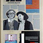 Volker Hildebrandt, Kunstzeitung Christo, 1997-99,  Acryl auf Zeitung auf Leinwand,  47 x 33 cm